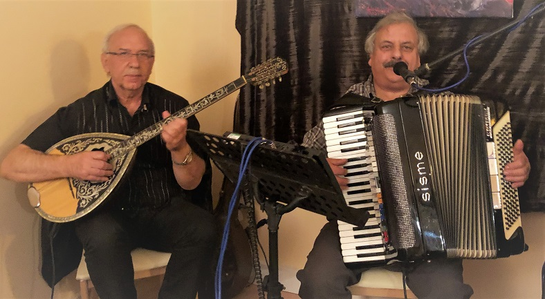 Bouzouki Players at Twos and Threes Hideaway