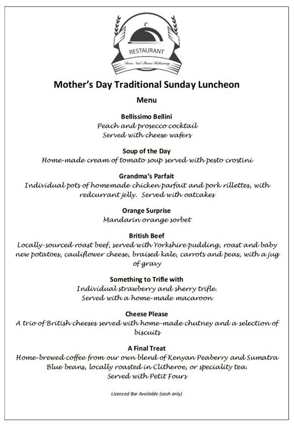 Mothers Day at Twos and Threes Hideaway